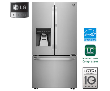 LG Studio Series   Large Capacity Counter Depth 3 Door French Door  Refrigerator With Door ...