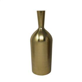 """15"""" Metal Vase, Gold"""