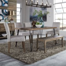 6 Piece Rectangular Table Set