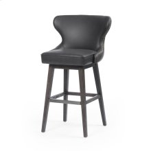 Bar Stool Size Distressed Black Cover Julie Swivel Bar + Counter Stool