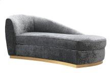 Adele Grey Slub Velvet Chaise