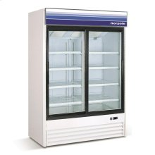 45 cu ft 2 Slide Door Merchandiser Refrigerator (White)