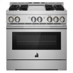 """Jenn-Air36"""" RISE Gas Professional-Style Range with Chrome-Infused Griddle"""