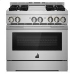 "JENN-AIR36"" RISE Gas Professional-Style Range with Chrome-Infused Griddle"