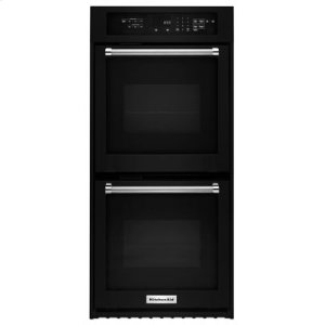 """KITCHENAID24"""" Double Wall Oven with True Convection - Black"""