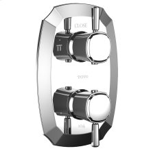 Guinevere® Thermostatic Mixing Valve with Two-Way Volume Control Trim and Lever Handles - Polished Chrome Finish