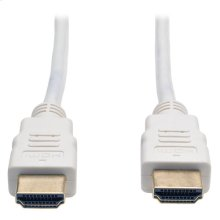 High Speed HDMI Cable, Ultra HD 4K x 2K, Digital Video with Audio (M/M), White, 6-ft.
