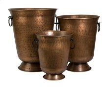 Meziere Copper Plated Planters - Set of 3