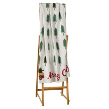 """""""Merry Christmas"""" Woody in Forest Knit Throw"""