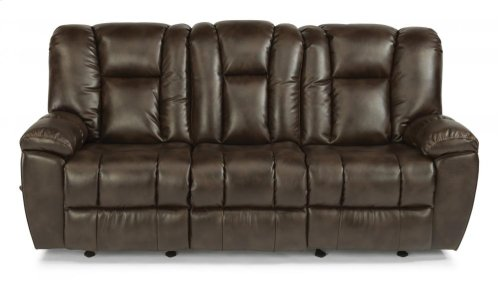 La Crosse Fabric Gliding Reclining Sofa