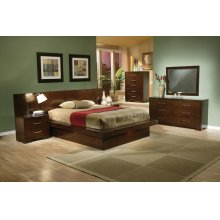Jessica Dark Cappuccino King Five-piece Bedroom Set
