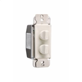Rotary Dual Fan Speed/Dimmer Control, Light Almond