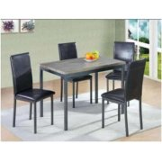 Garza Black Upholstered Side Chair Product Image