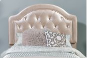 Karley Headboard - Full - Embossed Champagne With Glass Button