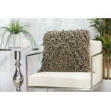 "Shag Dc105 Silver 20"" X 20"" Throw Pillows"