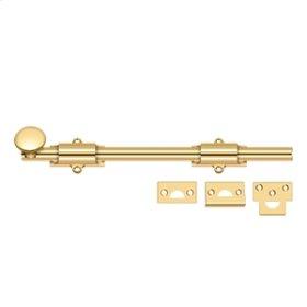 "12"" Surface Bolt, HD - PVD Polished Brass"