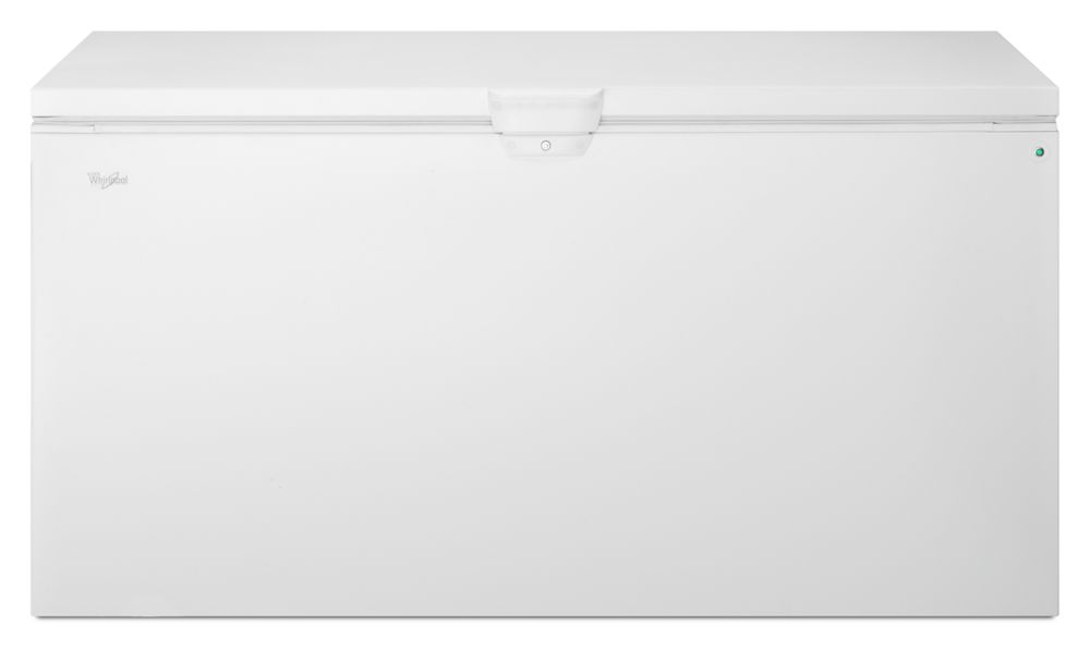 22 cu. ft. Chest Freezer with Extra-Large Capacity and Temperature Alarm  WHITE
