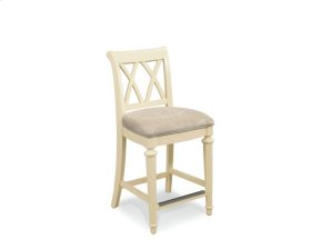 Splat Back Uph. Counter Height Barstool