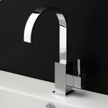Deck-mount single-hole faucet with an arch spout featuring natural water flow, one lever handle and pop-up. ADA compliant.