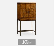 Country Walnut Drinks Cabinet for Iron Base
