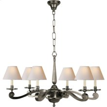 Visual Comfort AH5010GM-NP Alexa Hampton Myrna 6 Light 33 inch Gun Metal with Wax Chandelier Ceiling Light