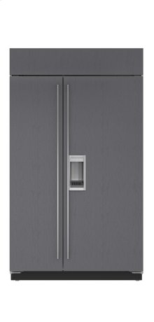 "48"" Built-In Side-by-Side Refrigerator/Freezer with Dispenser - Panel Ready"