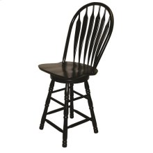 "DLU-B30-AB  30"" Swivel Barstool  Antique Black"