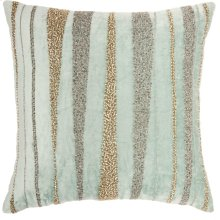 "Luminescence E1057 Celadon 18"" X 18"" Throw Pillows"