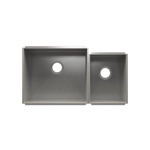 """UrbanEdge® 003643 - undermount stainless steel Kitchen sink , 21"""" × 18"""" × 10""""  12"""" × 16"""" × 8"""""""