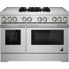 "RISE™ 48"" Dual-Fuel Professional Range with Dual Chrome-Infused Griddles, RISE Product Image"