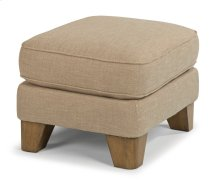 Arrow Fabric Ottoman