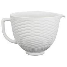 5 Quart Textured Ceramic Bowl - White Chocolate