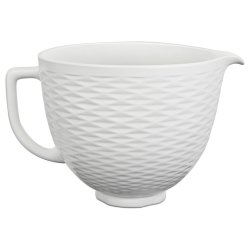 5 Quart Ceramic Bowl - White Chocolate