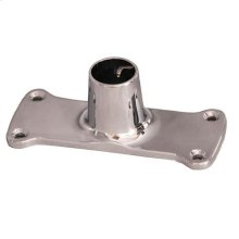 Jumbo Shower Rod Flange - Polished Chrome