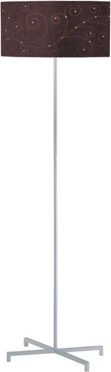 Floor Lamp, Silv/coffee Laser Cut Microfiber Shd, Type A 100
