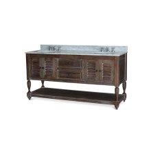 Cottage Master Vanity w/ Sink & Marble Top - CCA