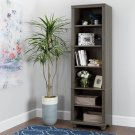 Narrow 6-Shelf Bookcase - Gray Maple Product Image