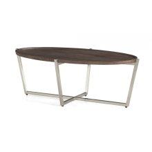 Platform Oval Coffee Table