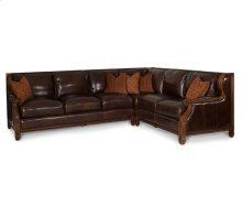 2pc Leather LAF Sofa & RAF Loveseat