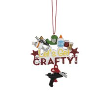 """""""Let's Get Crafty!"""" Ornament."""