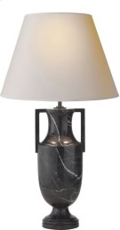 Visual Comfort AH3046BM-NP Alexa Hampton Burt 28 inch 75 watt Black Marble Decorative Table Lamp Portable Light Product Image