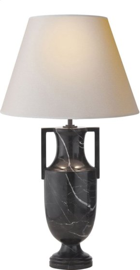 Visual Comfort AH3046BM-NP Alexa Hampton Burt 28 inch 75 watt Black Marble Decorative Table Lamp Portable Light