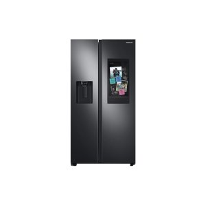 Samsung Appliances26.7 cu. ft. Large Capacity Side-by-Side Refrigerator with Touch Screen Family Hub™ in Black Stainless Steel