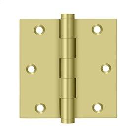 "3 1/2""x 3 1/2"" Square Hinge - Polished Brass"