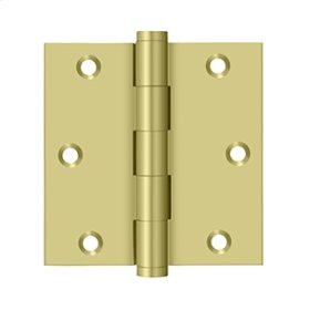 "3 1/2""x 3 1/2"" Square Hinge - Polished Brass"