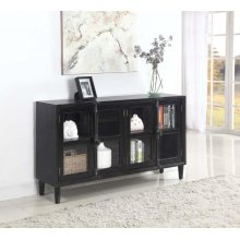 Transitional Black Accent Cabinet