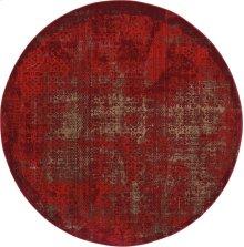 Karma Krm01 Red Round Rug 7'10'' X 7'10''