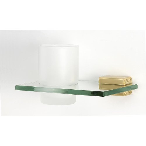 Cube Tumbler Holder A6570 - Polished Brass