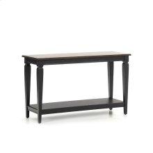 Living - Room Glennwood Sofa Back Table  Black & Charcoal