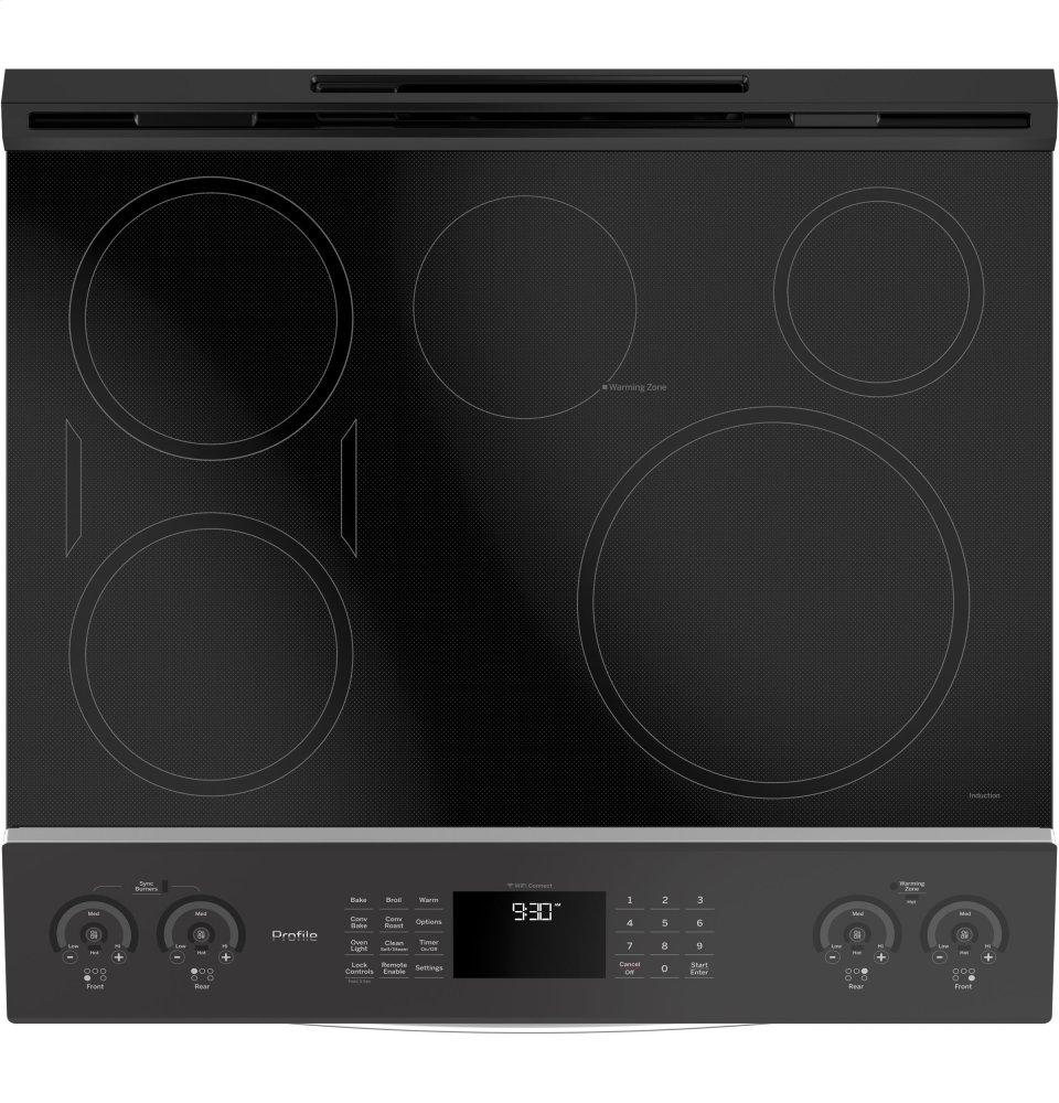 Ge Profile Series 30 Slide In Front Control Induction And Convection Range